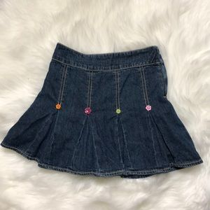 Gymboree Pleated Denim Skirt | Jean Skort | Size 7